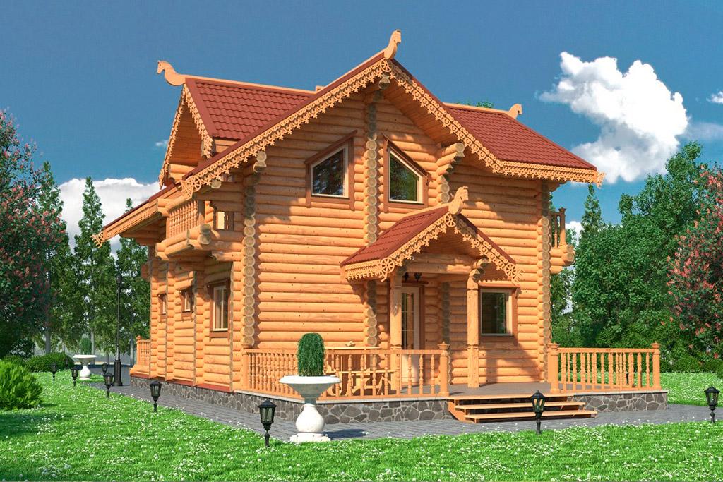 Рубленые дома Экопоселок Русский лес