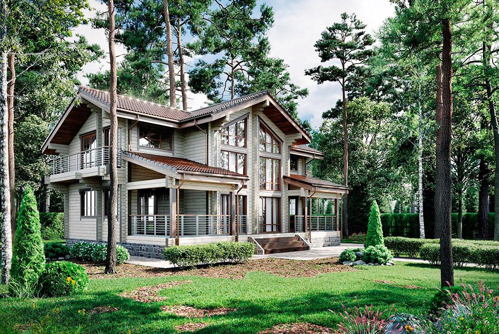 Дома из клееного бруса Экопоселок Русский лес